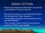 bakken oil fields