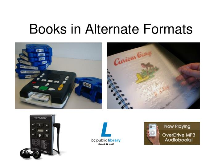 Books in Alternate Formats