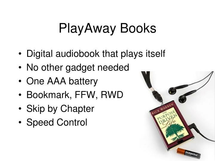 PlayAway Books