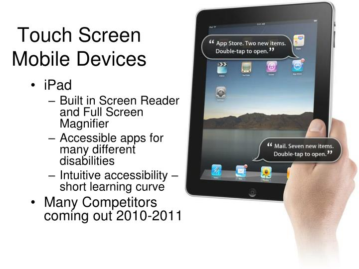 Touch Screen Mobile Devices