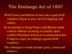 the embargo act of 1807