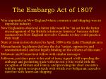the embargo act of 18072