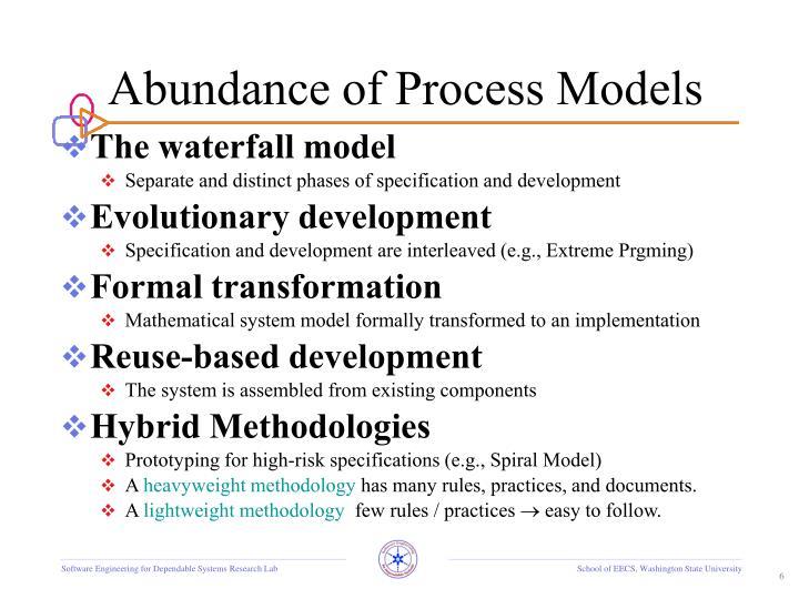 Abundance of Process Models