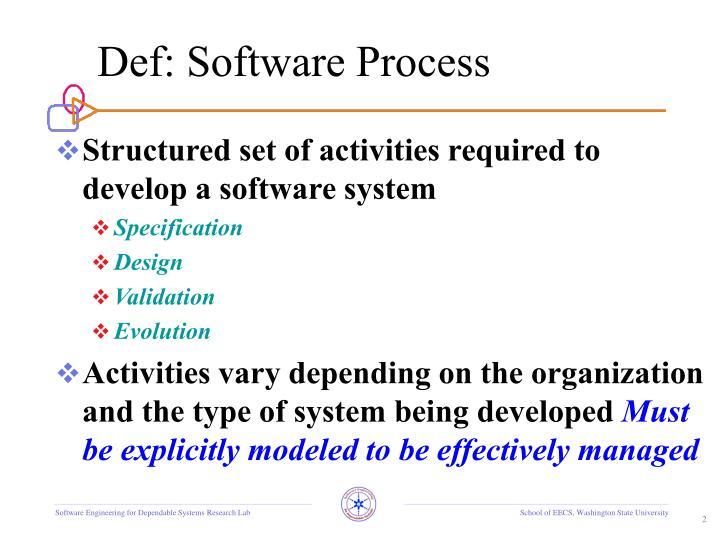 Def software process