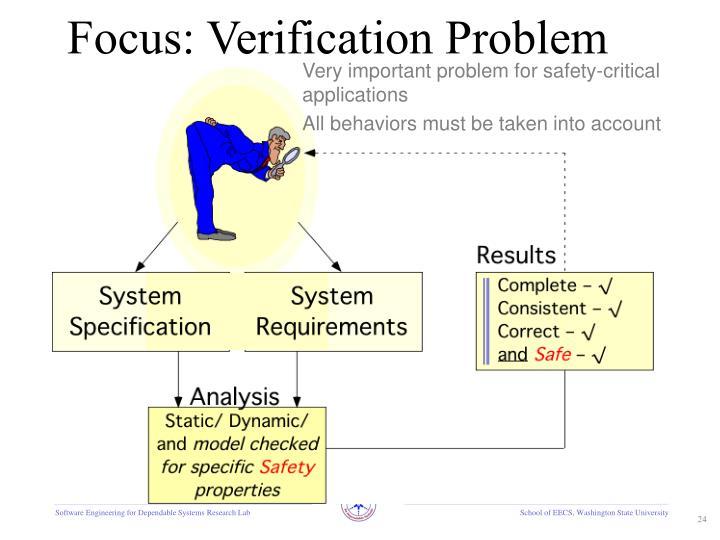 Focus: Verification Problem