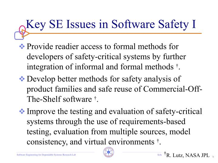 Key SE Issues in Software Safety I