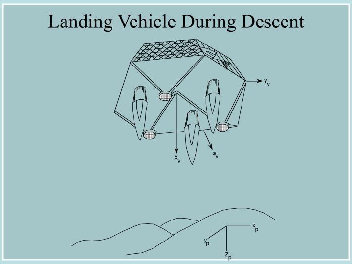 Landing Vehicle During Descent