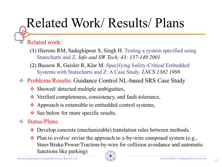 Related Work/ Results/ Plans