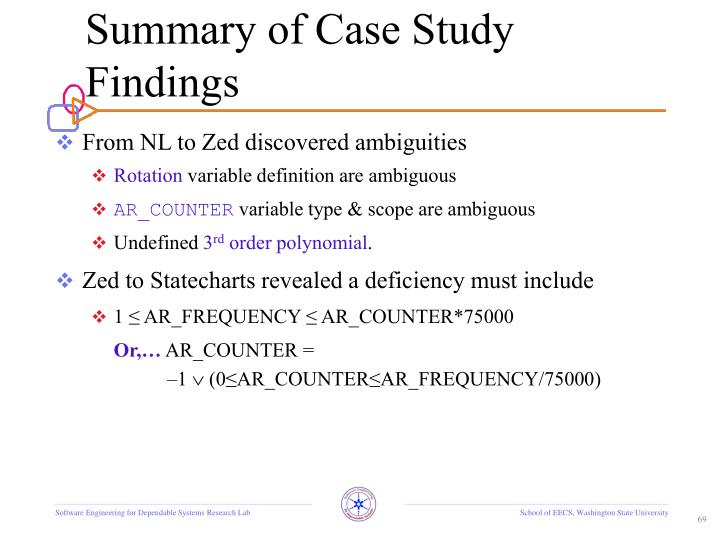 Summary of Case Study Findings