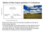 motion of non tracer particles in turbulence