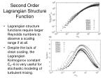 second order lagrangian structure function1