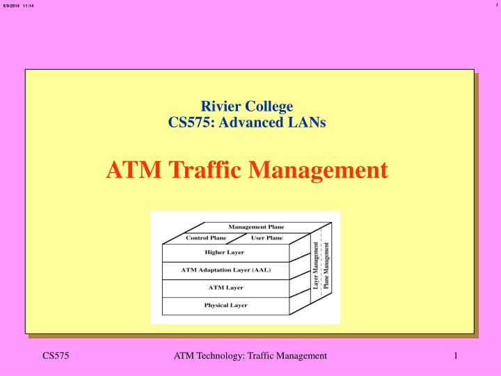 rivier college cs575 advanced lans atm traffic management n.