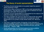 the theory of social representations