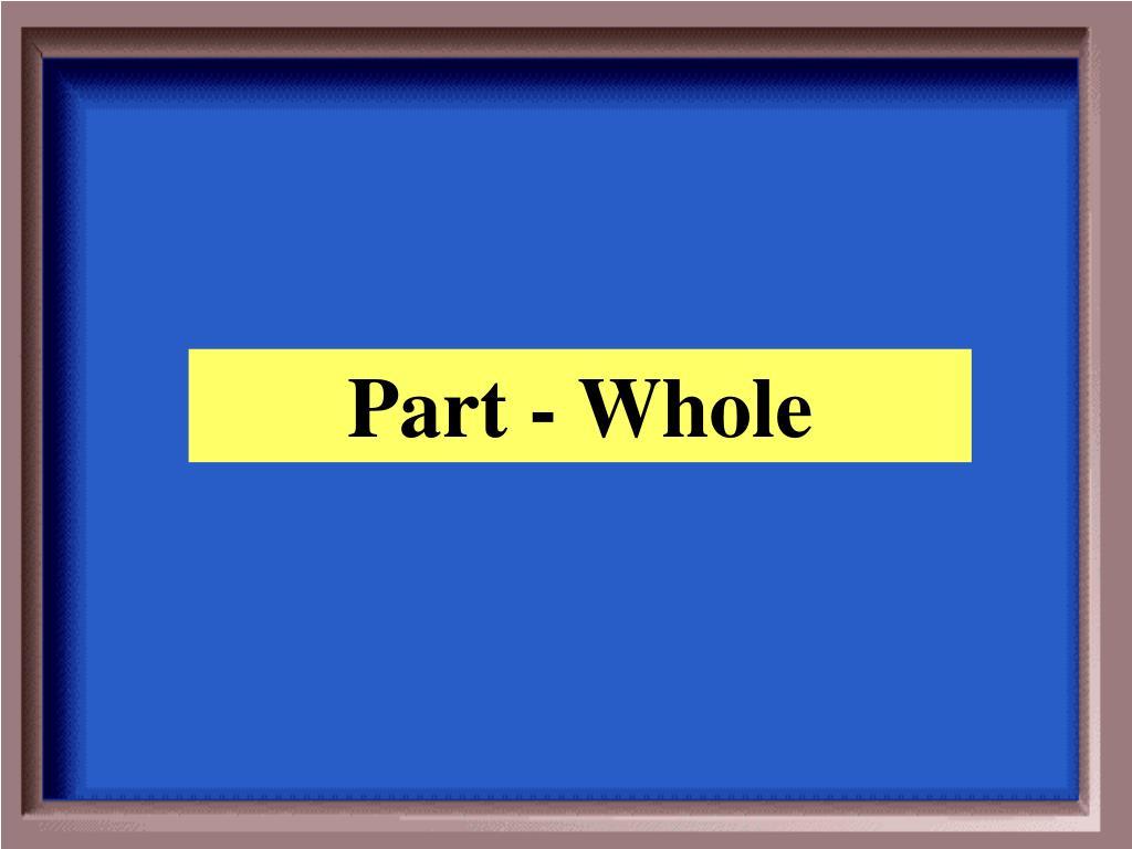 Part - Whole