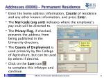 addresses 0006 permanent residence