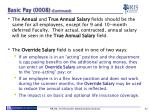basic pay 0008 continued