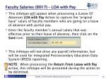 faculty salaries 9017 loa with pay