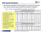 iris payroll schedule