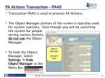 pa actions transaction pa40