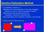 iterative estimation method