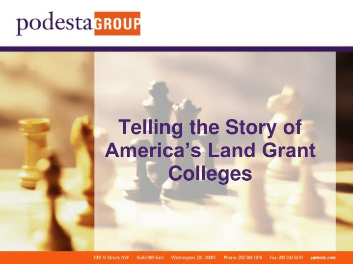 telling the story of america s land grant colleges n.