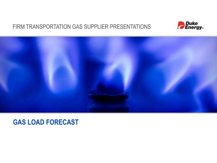 gas load forecast n.