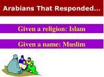 arabians that responded1