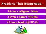 arabians that responded2
