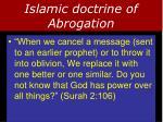 islamic doctrine of abrogation