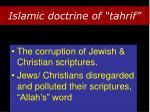 islamic doctrine of tahrif