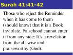 surah 41 41 42