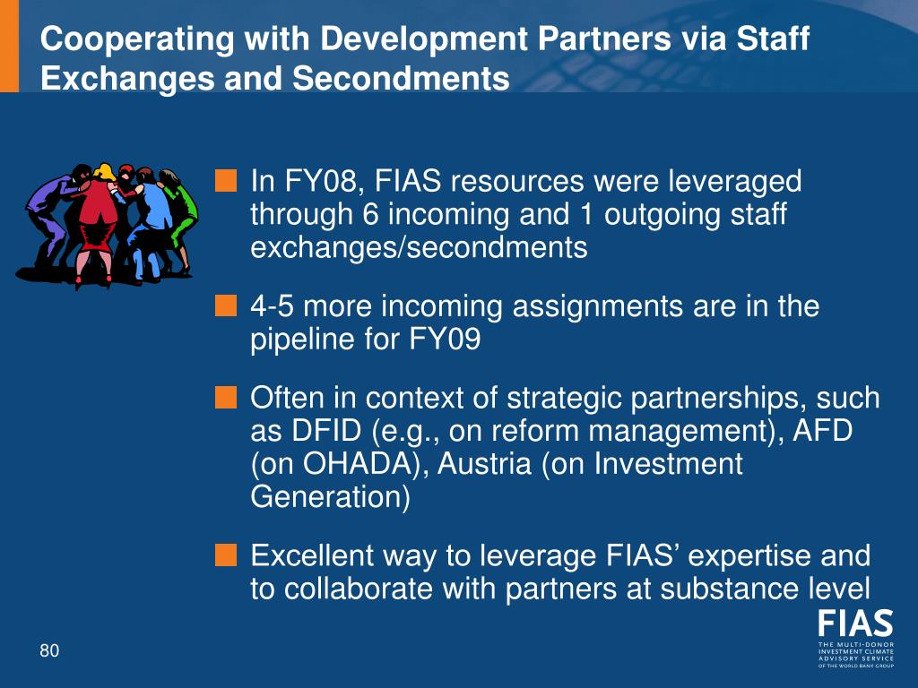 Cooperating with Development Partners via Staff Exchanges and Secondments