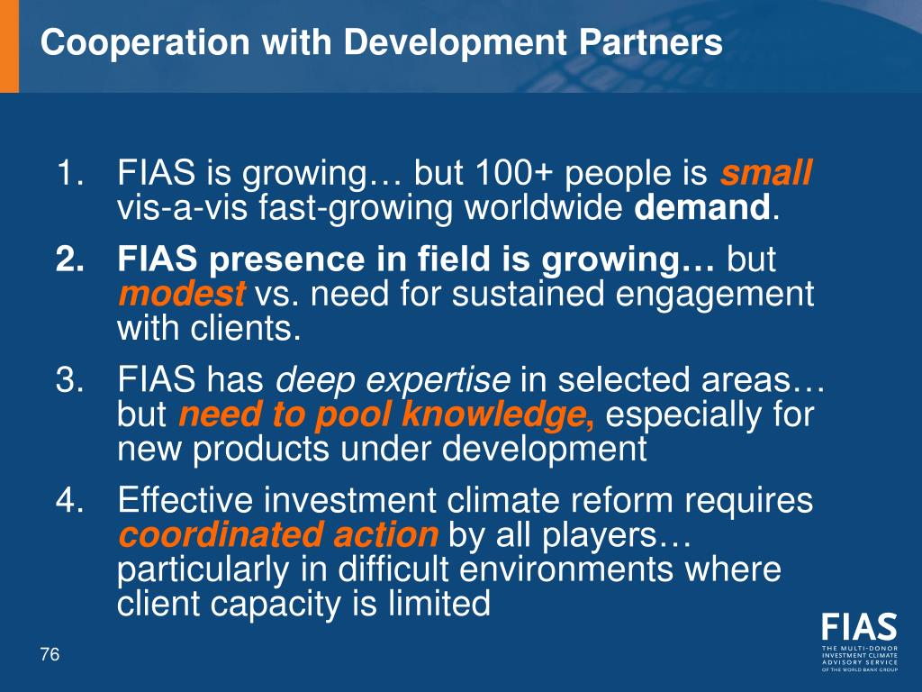 Cooperation with Development Partners