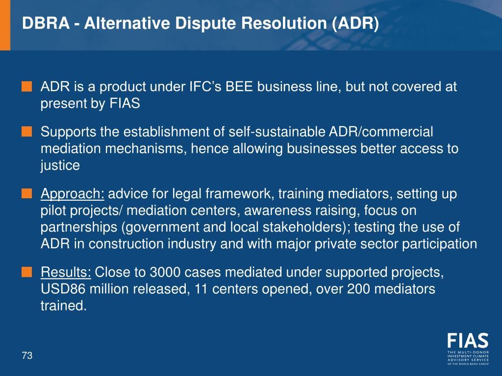 DBRA - Alternative Dispute Resolution (ADR)