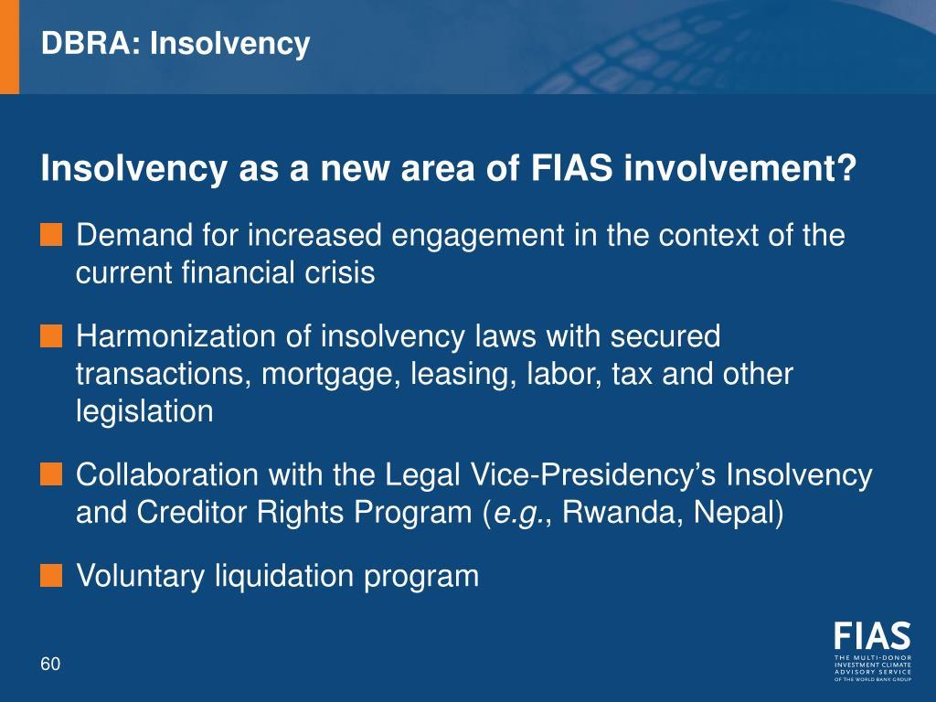 DBRA: Insolvency