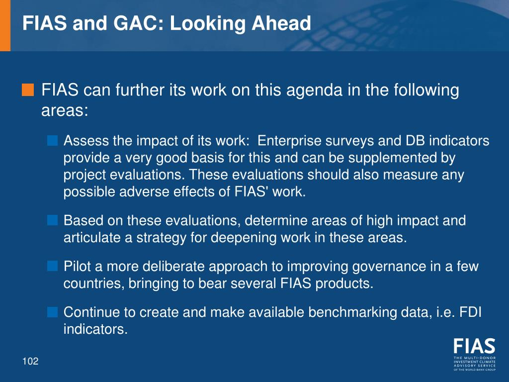 FIAS and GAC: Looking Ahead