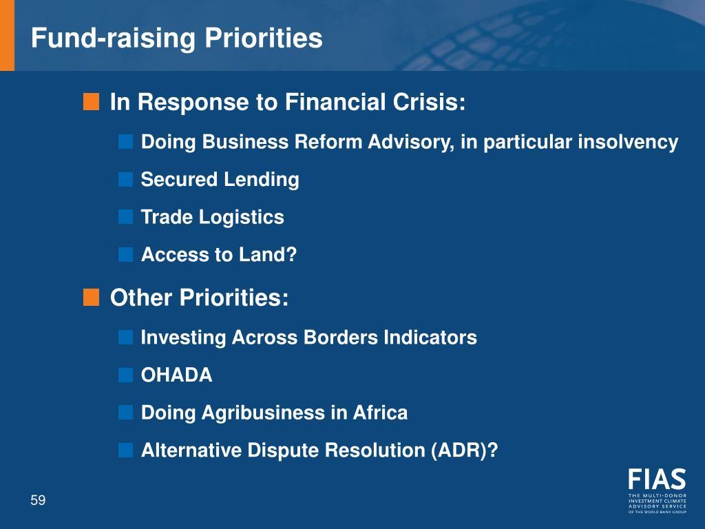Fund-raising Priorities