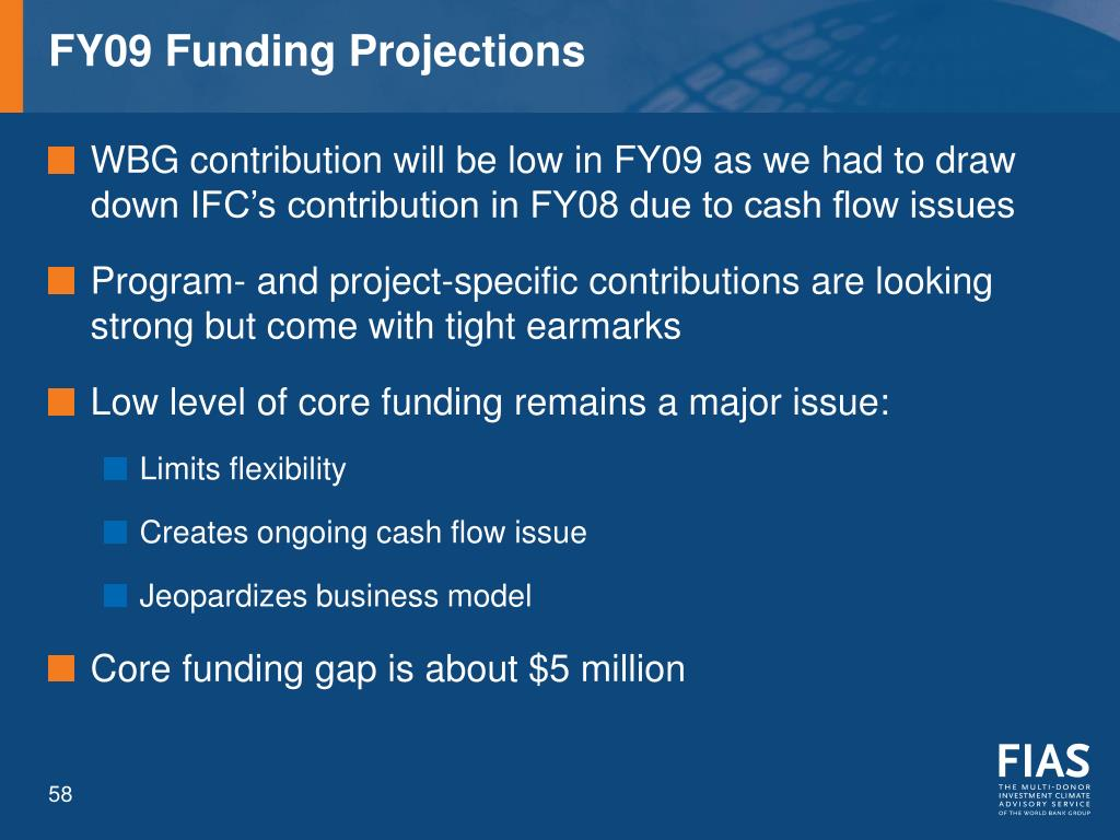 FY09 Funding Projections
