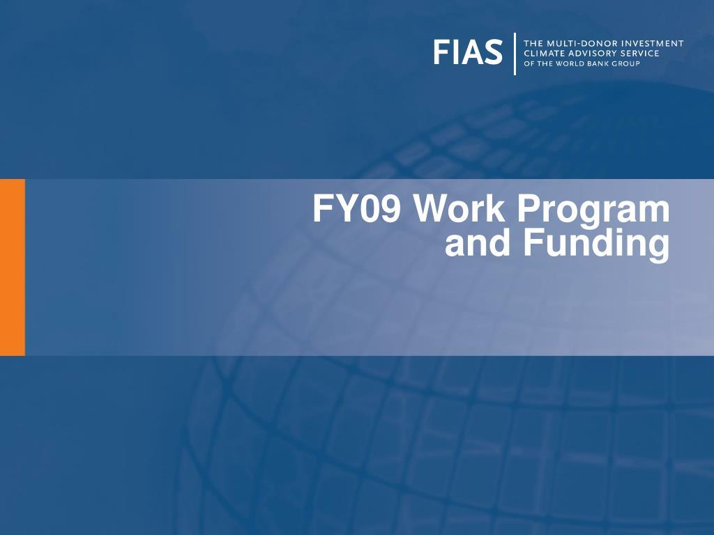 FY09 Work Program