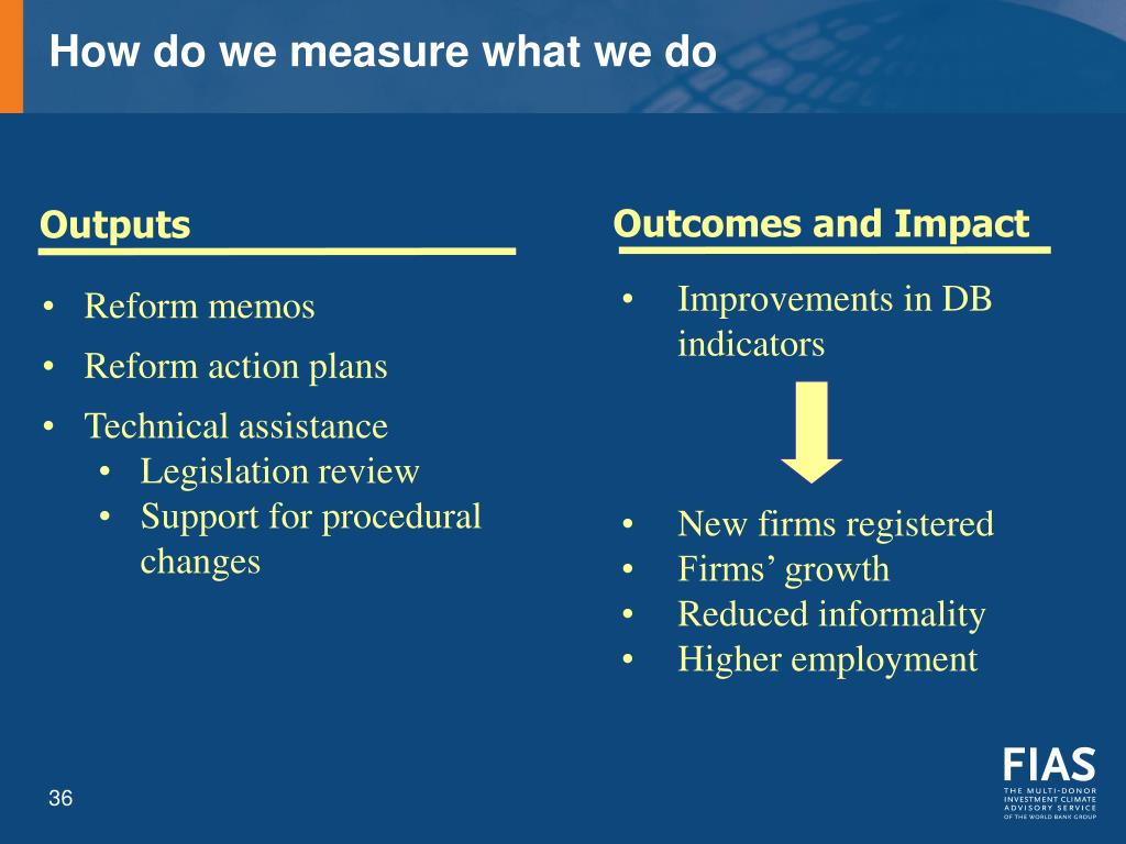 How do we measure what we do