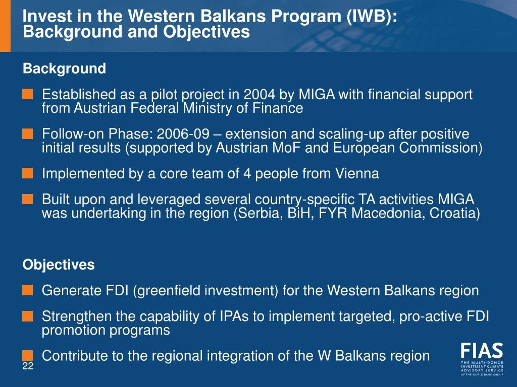Invest in the Western Balkans Program (IWB):