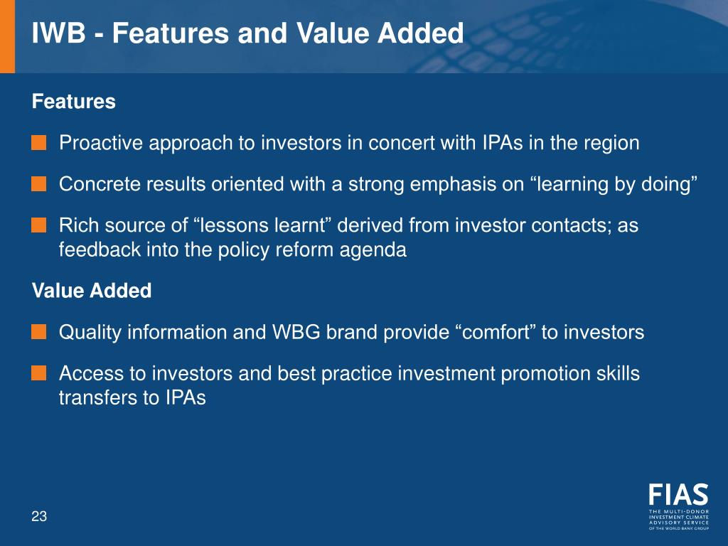IWB - Features and Value Added