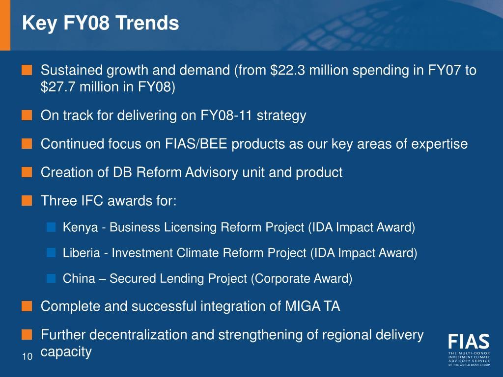 Key FY08 Trends