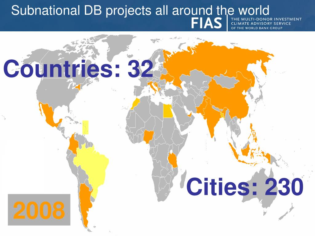 Subnational DB projects all around the world