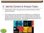 3 identify content analyze tasks