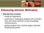 enhancing intrinsic motivation1