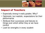 impact of teachers