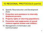 10 regional protocols cont d