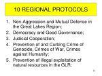 10 regional protocols
