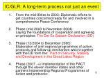 ic glr a long term process not just an event